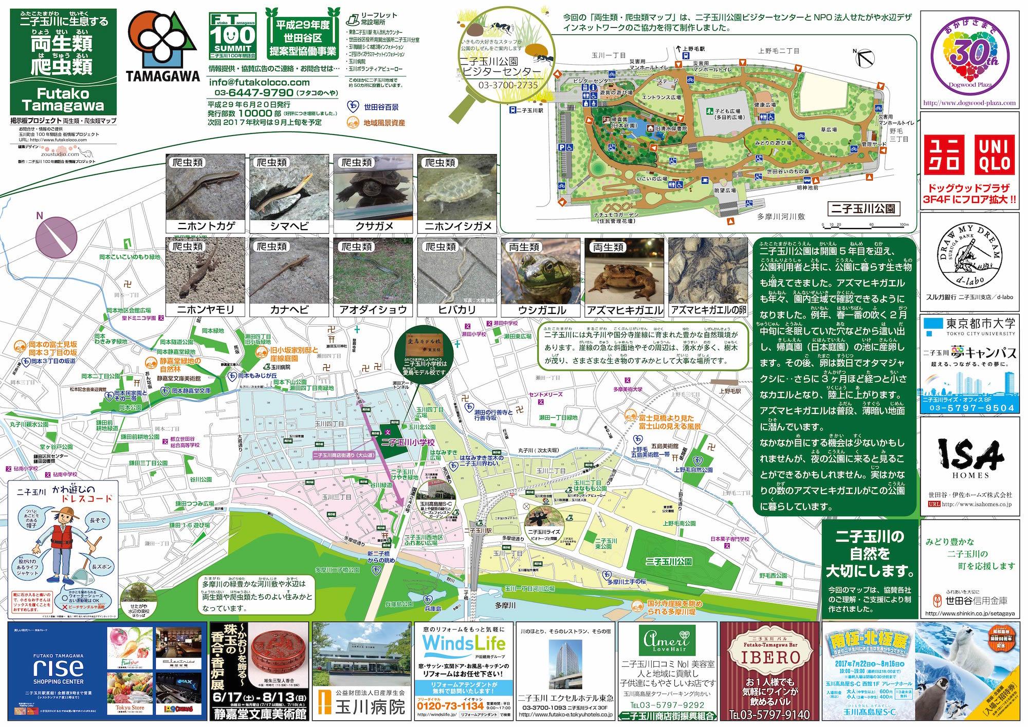 2017年夏号両生類爬虫類マップ
